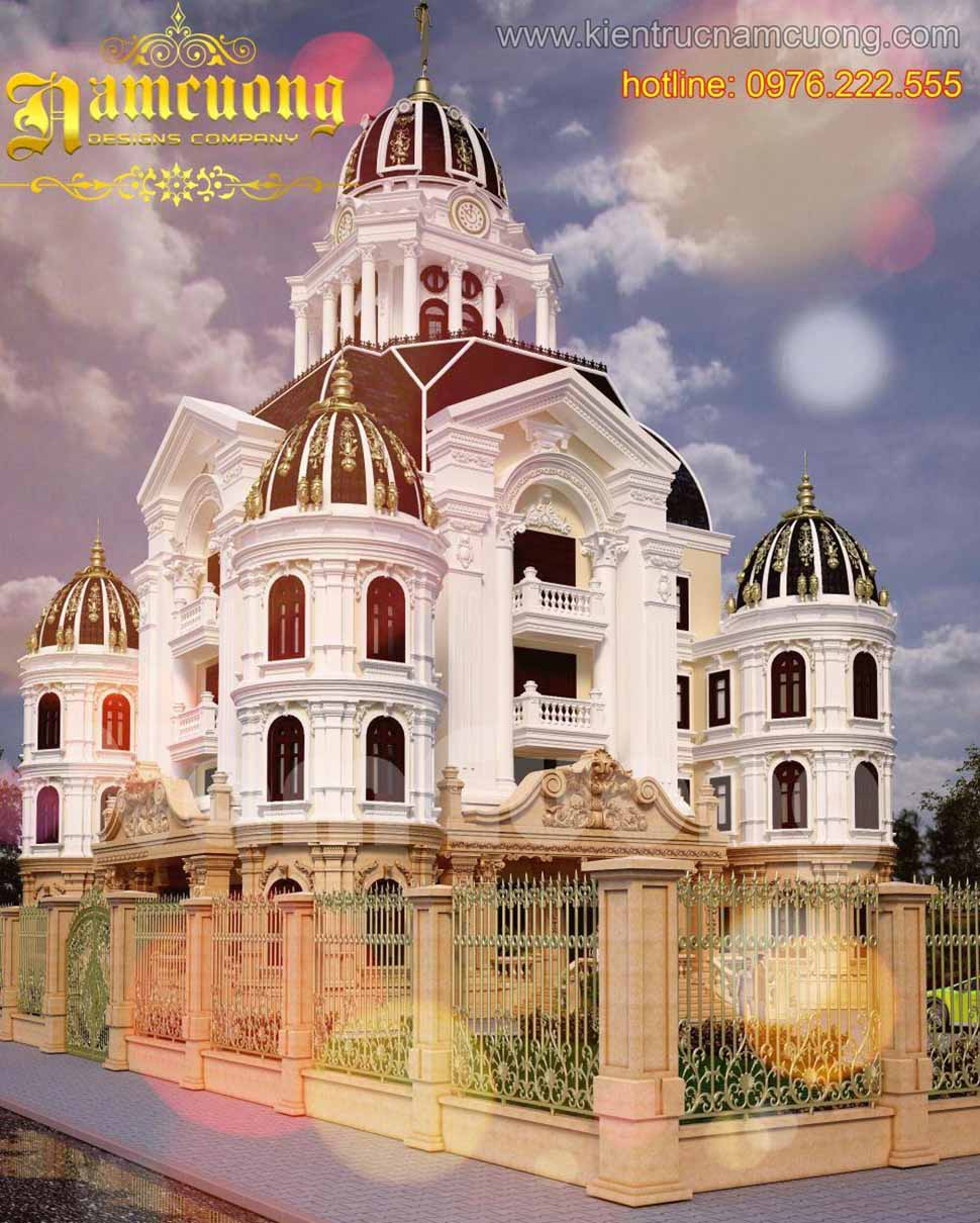 Mẫu thiết kế biệt thự kiểu Pháp mang đến sự uy nghi, đẳng cấp và tráng lệ.