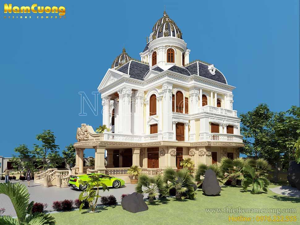 lâu đài 5 tầng cổ điển đẹp