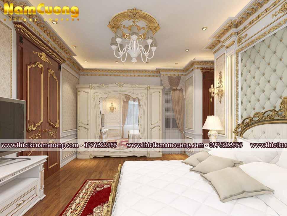 Không gian phòng ngủ phong cách hoàng gia