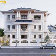 Thiết kế mẫu biệt thự 3 tầng 150m2 tân cổ điển