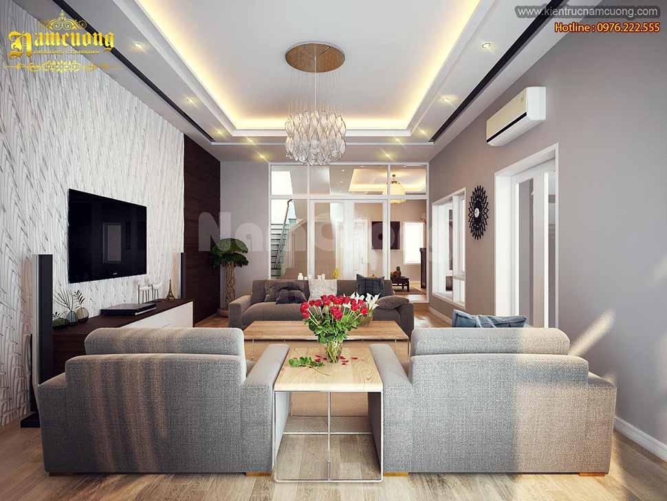 Màu sắc và ánh sáng hài hòa tôn lên vẻ lịch lãm, tinh tế - mẫu biệt thự đẹp 3 tầng hiện đại tại Hải Phòng