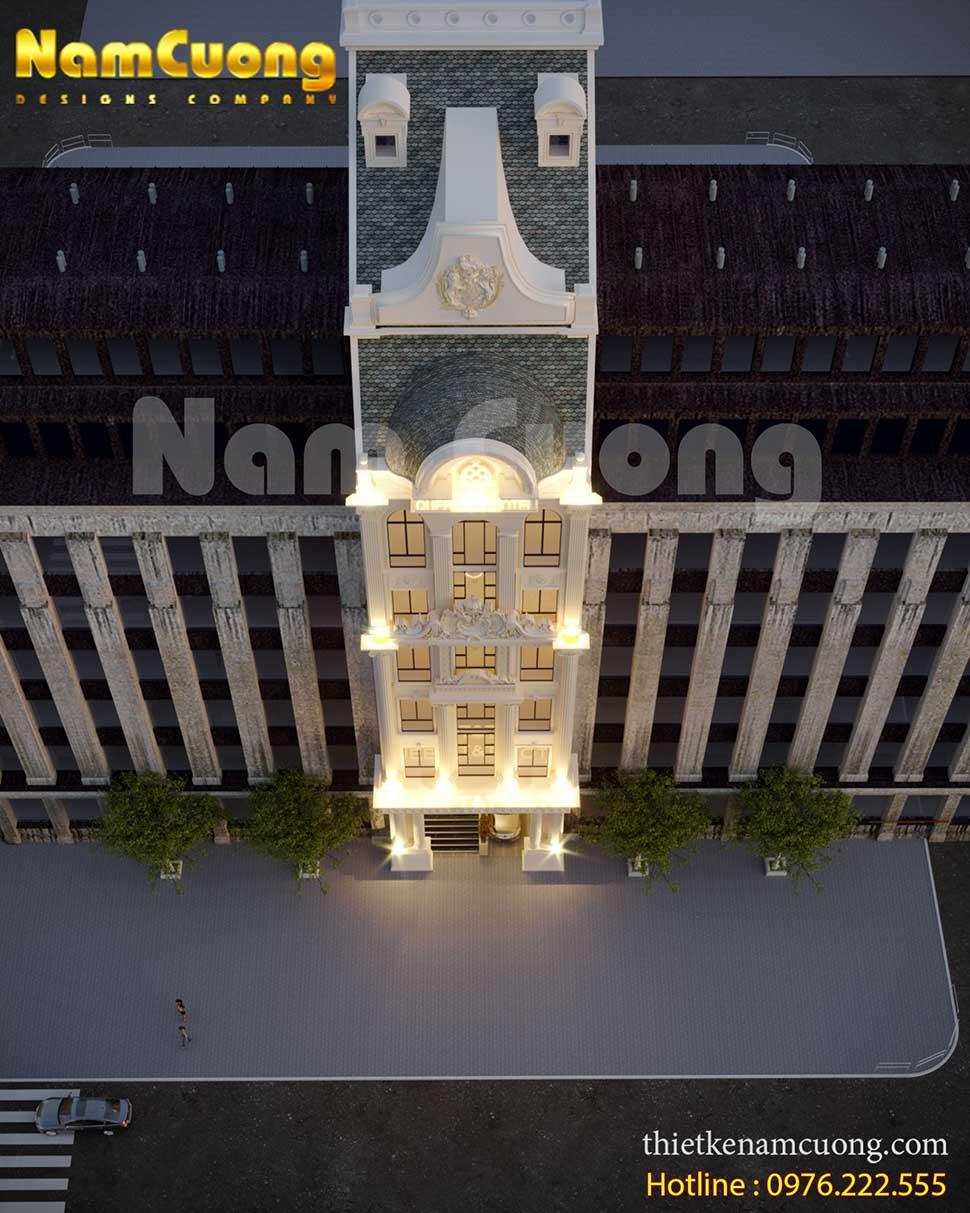 kiến trúc sang trọng của khách sạn