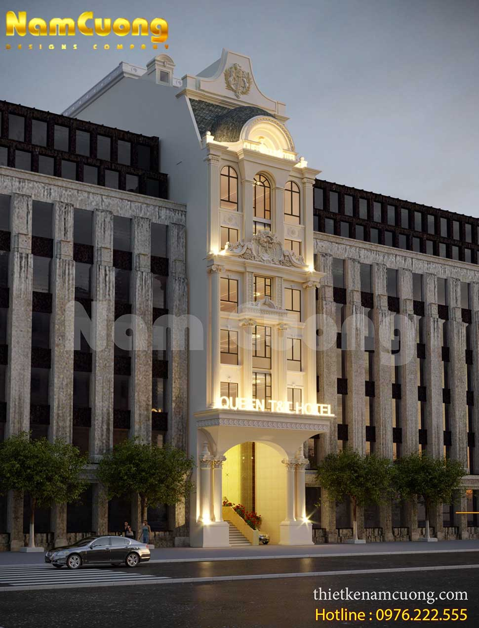 kiến trúc đẳng cấp của khách sạn