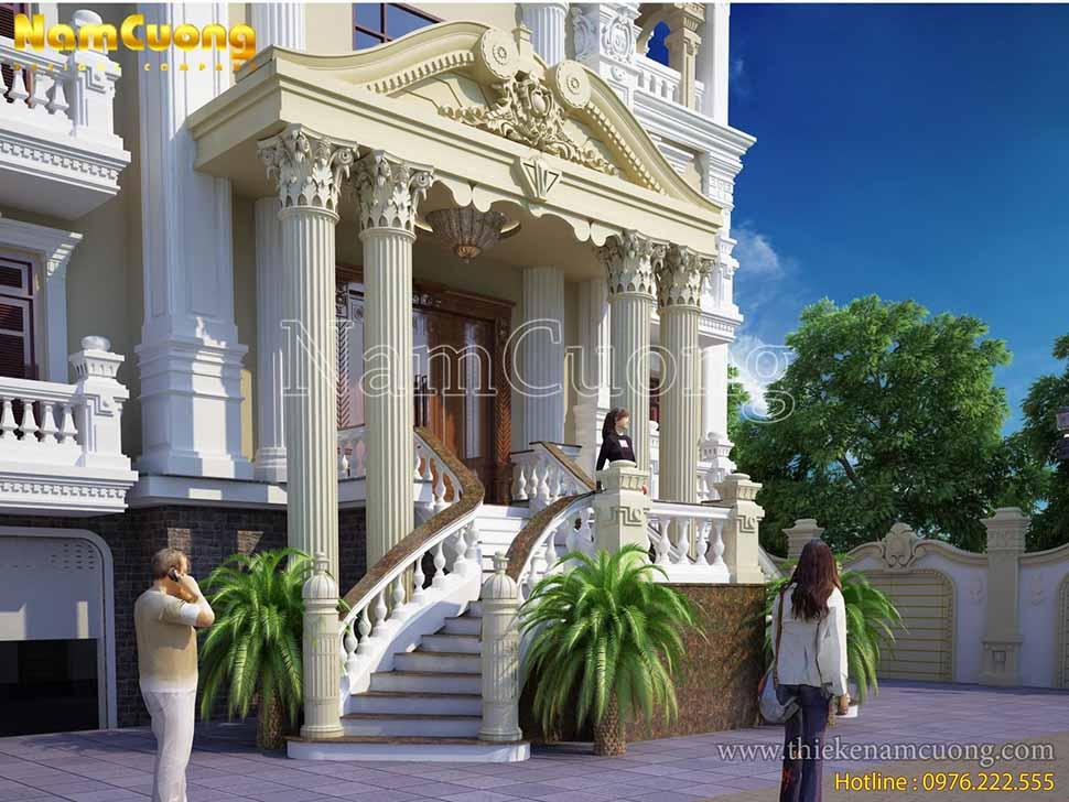 mẫu nhà biệt thự 3 tầng kiểu pháp