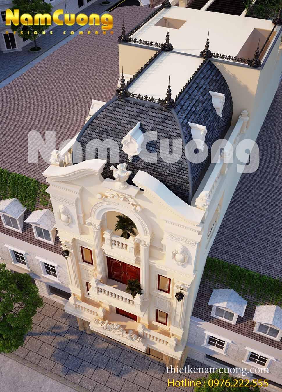 mẫu nhà ống 4 tầng kiến trúc pháp