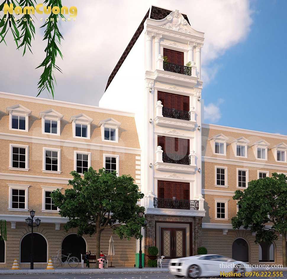 mặt tiền nhà phố 5 tầng