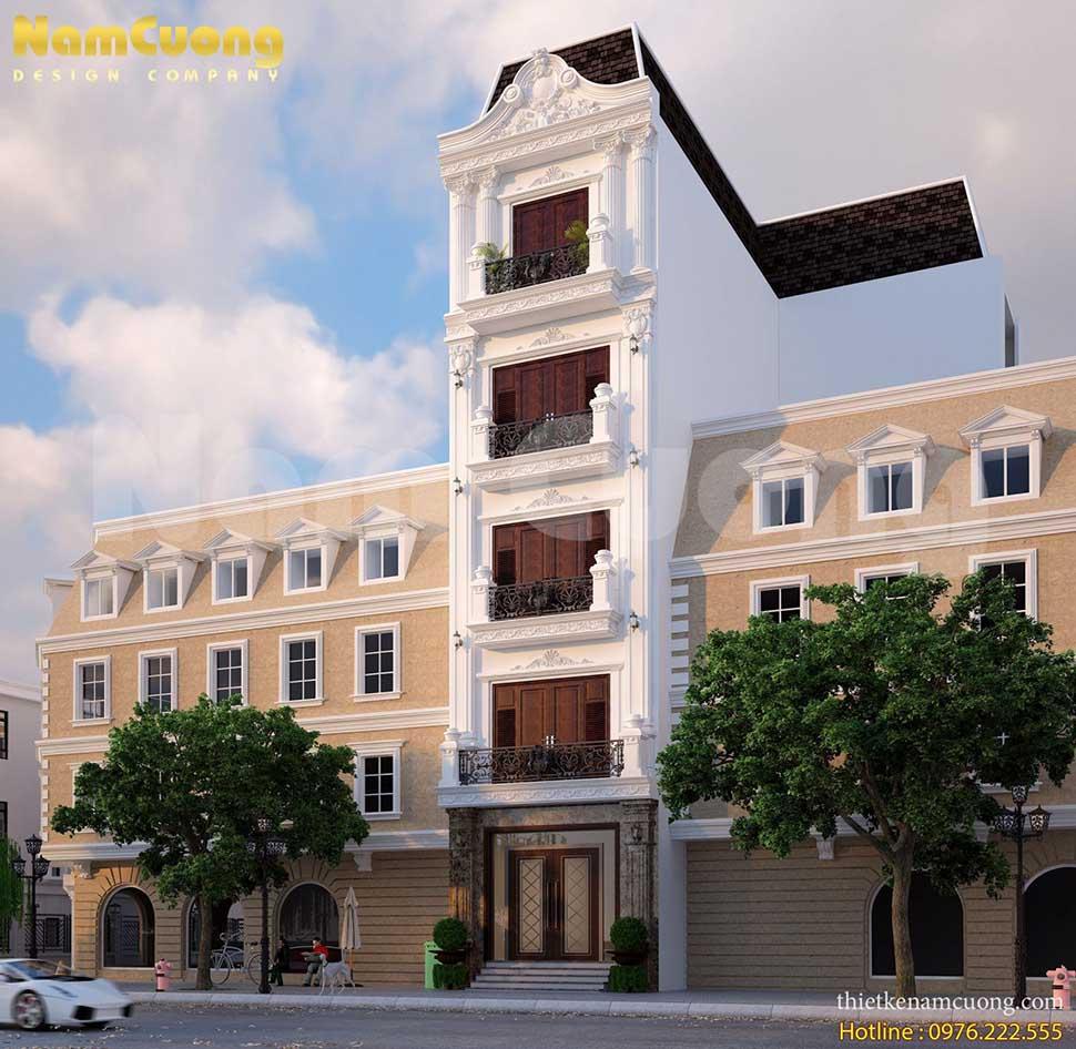 nhà phố 5 tầng 2 mặt tiền