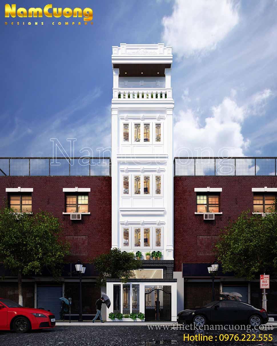 Căn nhà ống tân cổ điển nổi bật vẻ đẹp trang nha, lịch thiệp giữa không gian kiến trúc xung quanh