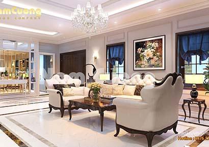 mẫu nội thất biệt thự tân cổ điển đẹp