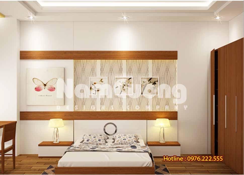 Mẫu nội thất phòng ngủ hiện đại 25m2