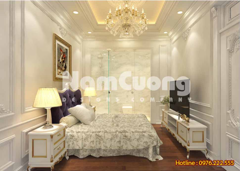 Mẫu thiết kế nội thất phòng ngủ tân cổ điển tại Quảng Ninh