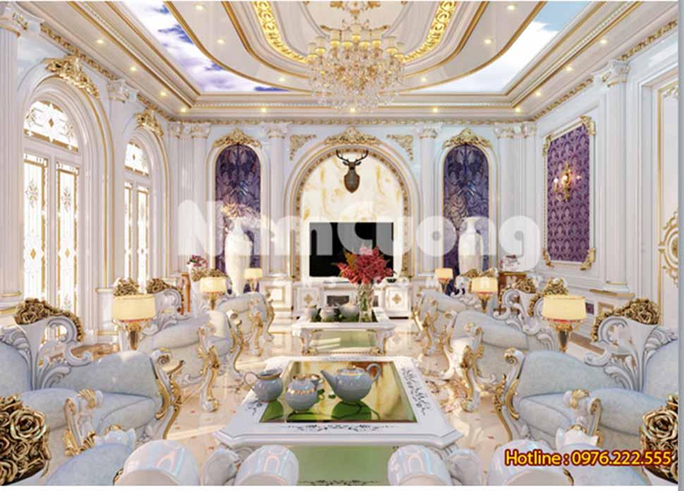 Mẫu thiết kế nội thất phòng sinh hoạt chung cổ điển - SHCCD 07 tại Bắc Ninh