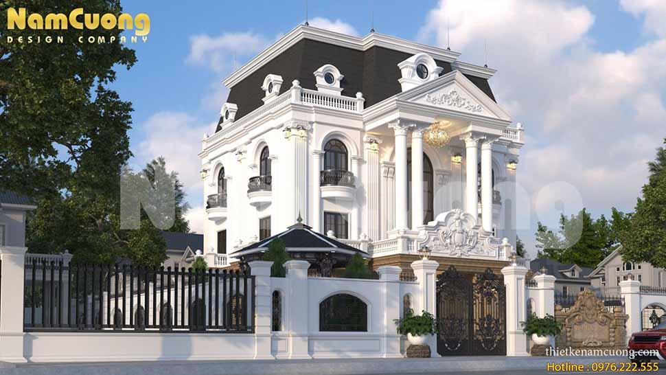 Mẫu thiết kế biệt thự lâu đài Pháp đẹp