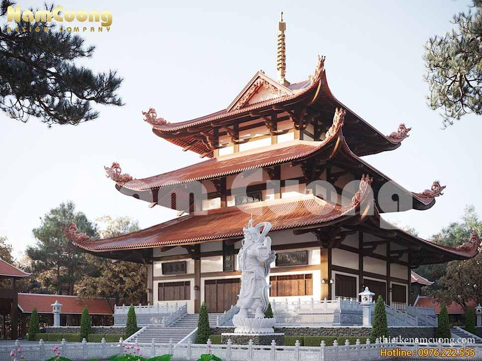 mặt tiền tháp chùa
