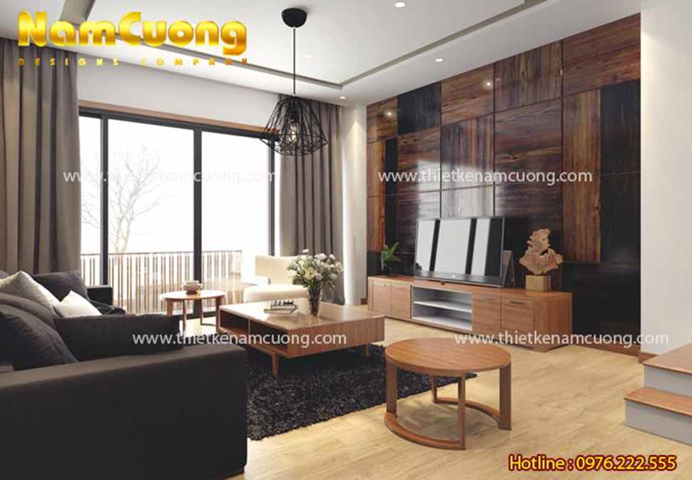 nội thất phòng khách hiện đại 30 m2