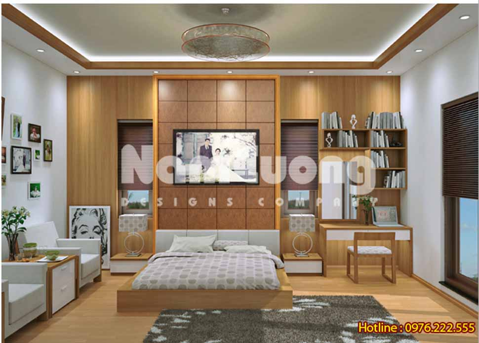 Mẫu thiết kế nội thất phòng ngủ hiện đại