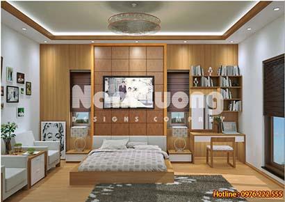 mẫu thiết kế nội thất phòng ngủ hiện đại đẹp