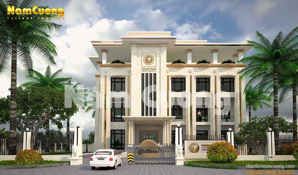 mẫu thiết kế trụ sở cơ quan tại Quảng Bình