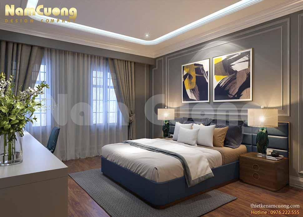 Phòng ngủ 1 trong mẫu thiết kế nhà ở kết hợp kinh doanh quán cafe