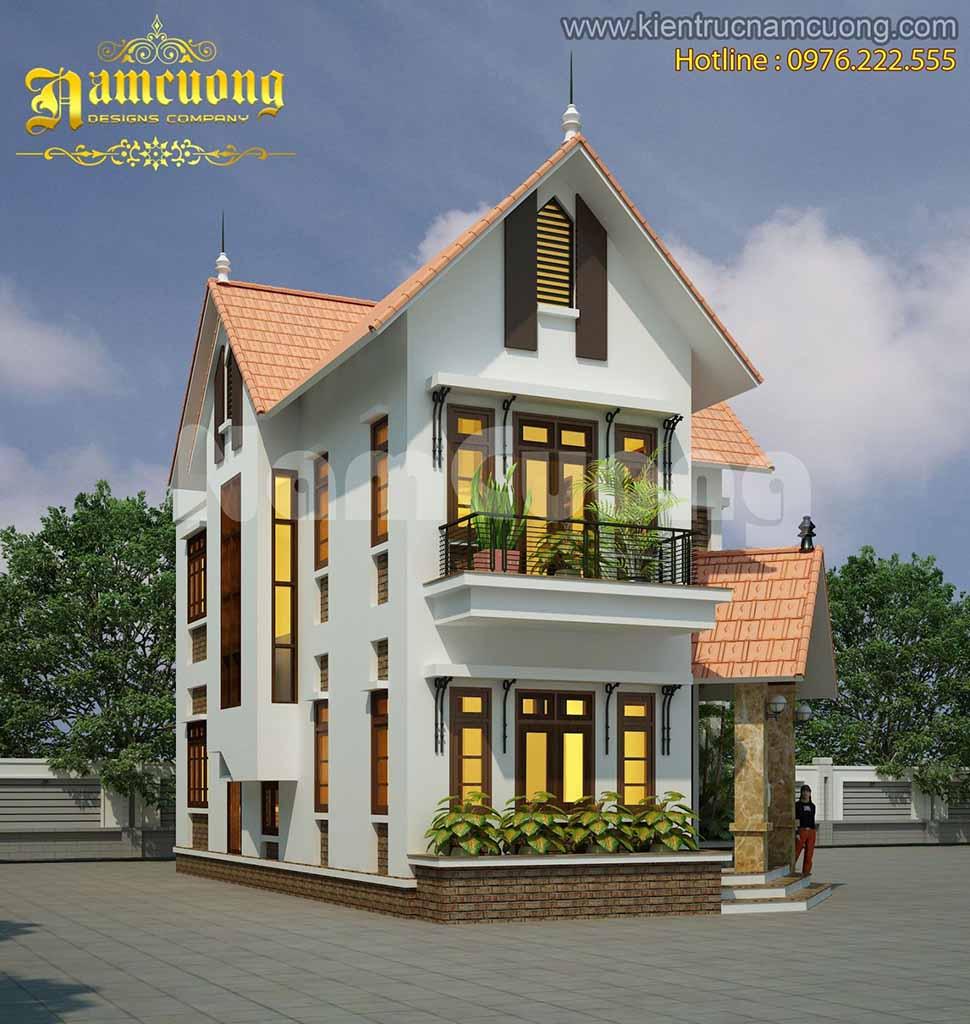 kiến trúc biệt thự 2 tầng