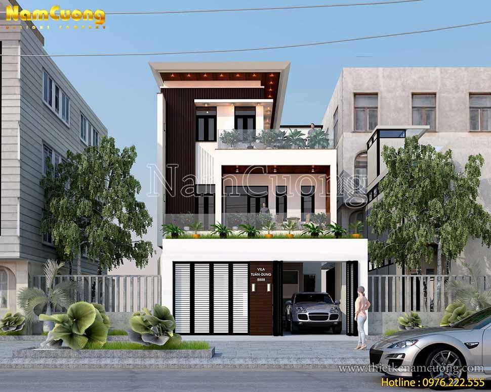 kiến trúc nhà 3 tầng mặt tiền 7m