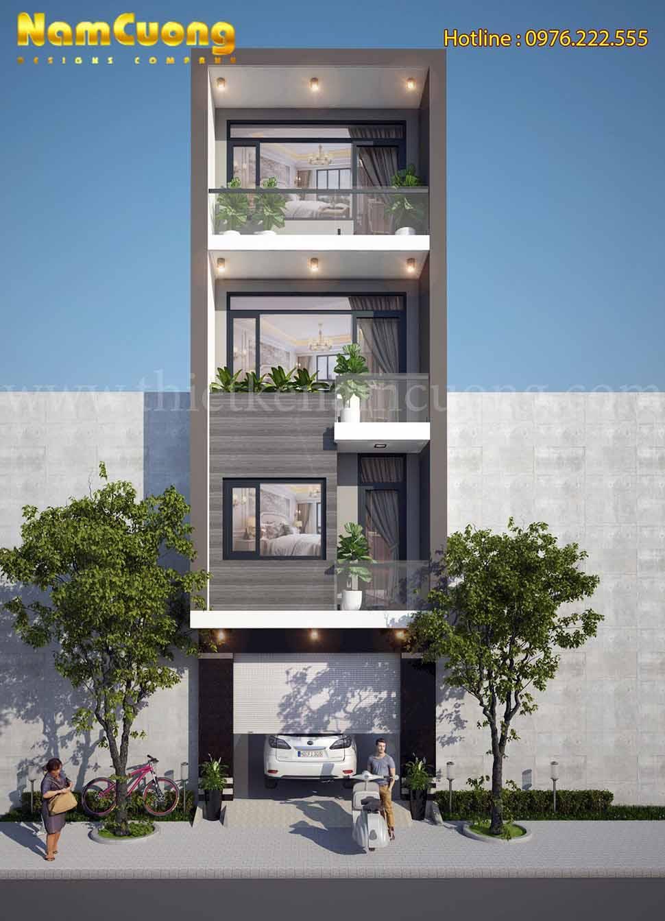 kiến trúc nhà lô phố hiện đại