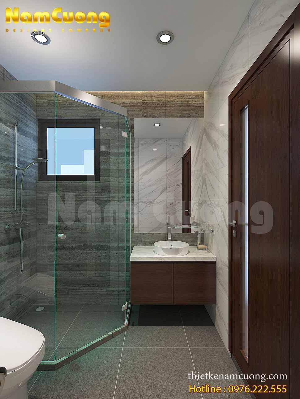thiết kế phòng WC tiện nghi