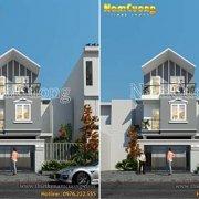 Mẫu thiết kế nhà phố 3 tầng mái thái tại Bắc Giang