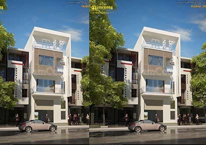 Mẫu thiết kế nhà phố 4 tầng hiện đại đơn giản tại Hải Phòng