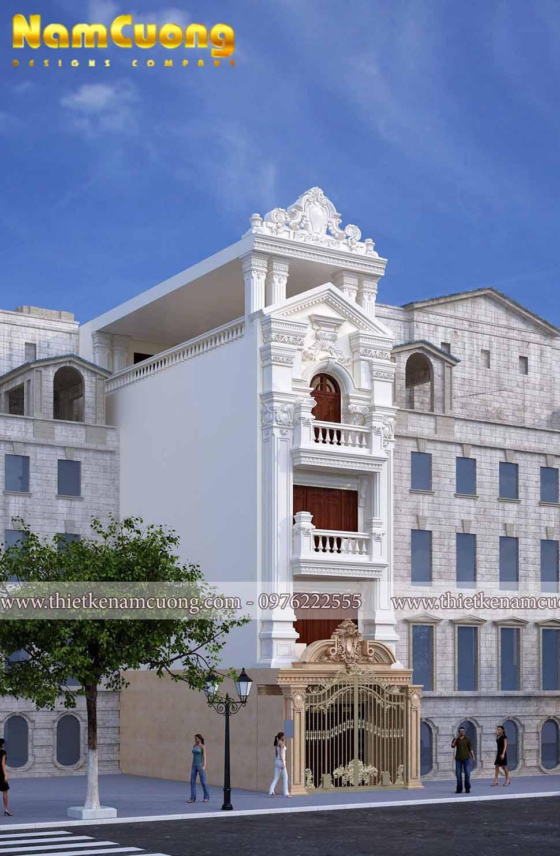 kiến trúc nhà phố 5 tầng mặt tiền 5m
