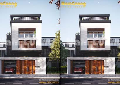 Mẫu thiết kế nhà phố hiện đại có tầng hầm tại Quảng Ninh