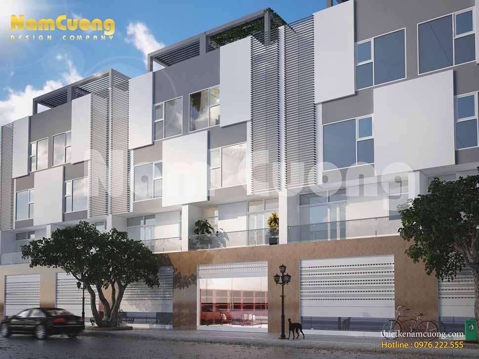 Mẫu thiết kế nhà phố liền kề hiện đại 4 tầng tại Quảng Ninh
