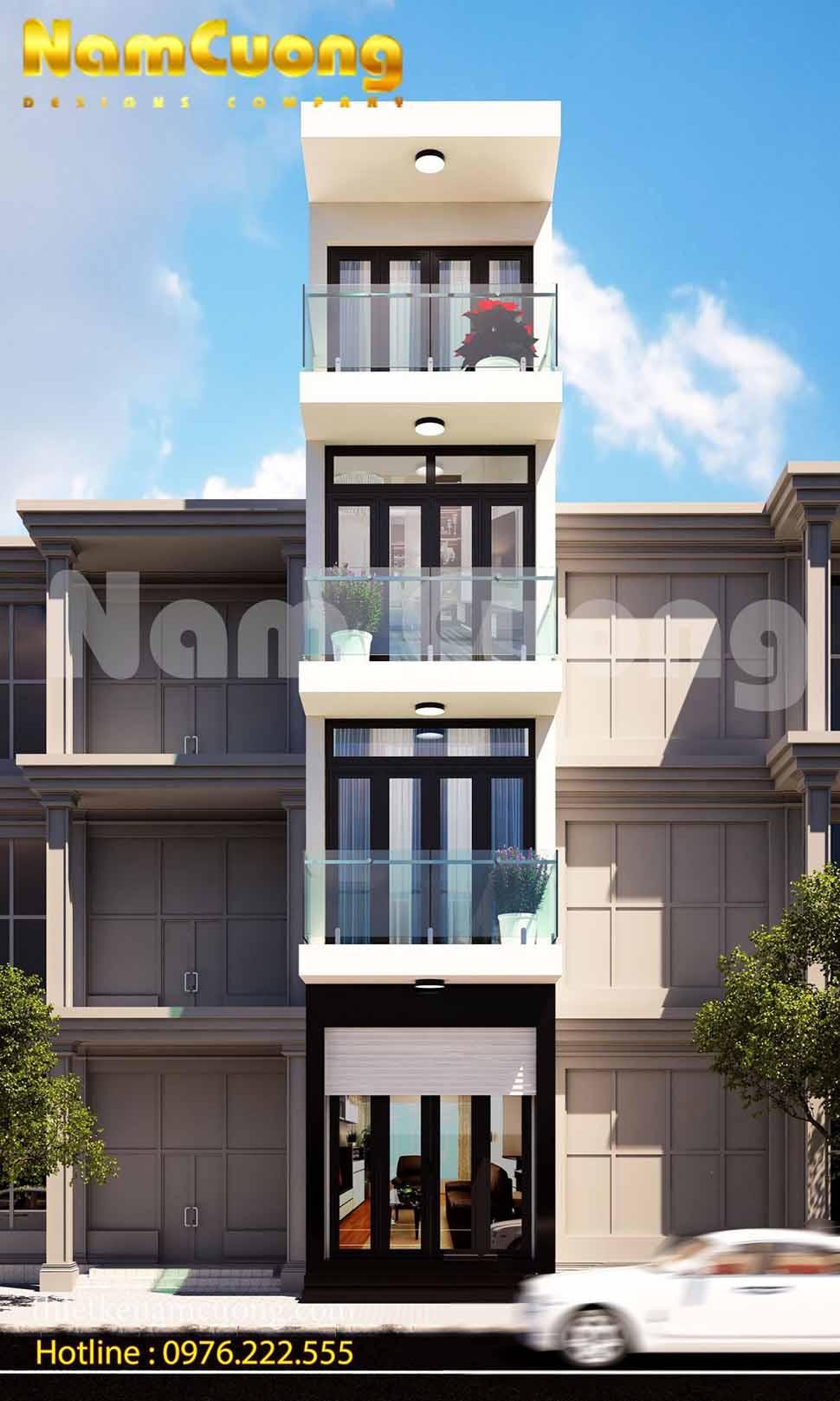Hoàn thành thiết kế cho công trình nhà phố mặt tiền 3m tại Hải Phòng
