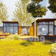 Mẫu thiết kế nhà vườn 1 tầng đẹp hiện đại