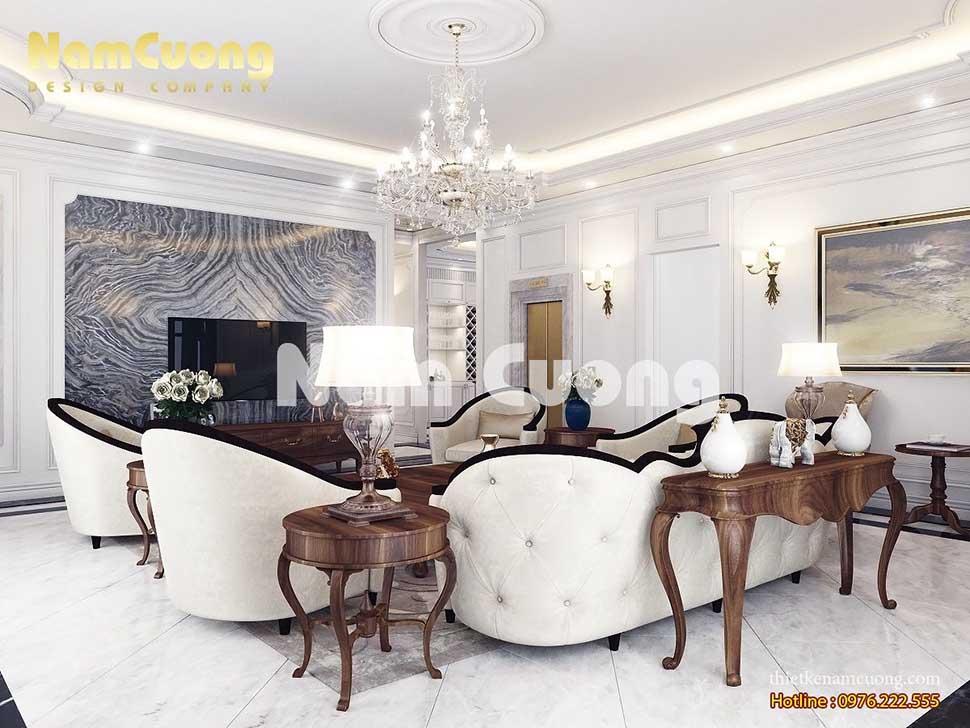 phòng khách tân cổ điển