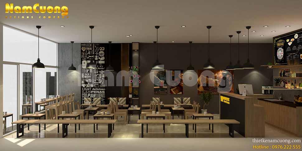 nội thất cafe đơn giản