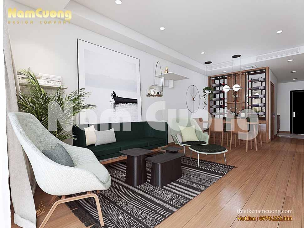 Mẫu thiết kế nội thất chung cư đẹp hiện đại tại Hà Nội