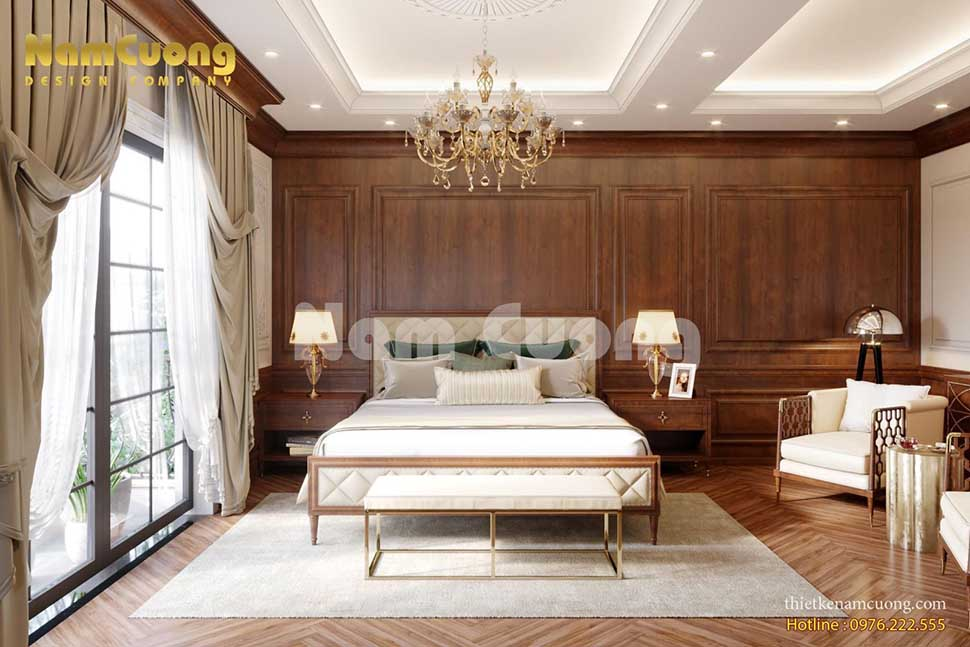 nội thất phòng ngủ gỗ biệt thự đẹp