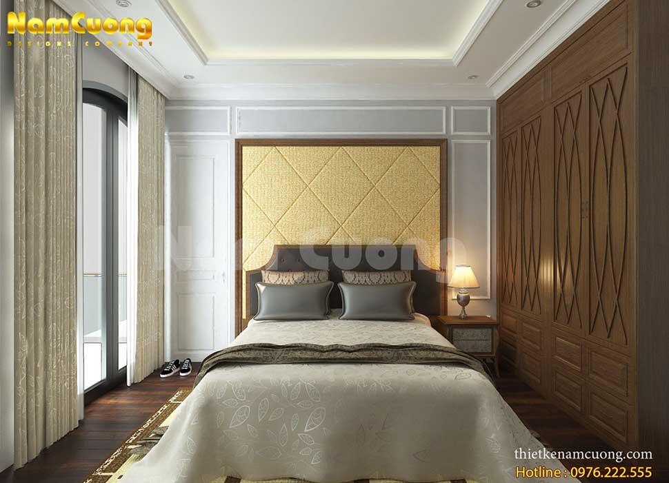 không gian phòng ngủ của khách sạn