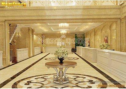 không gian sảnh khách sạn tại Quảng Ninh