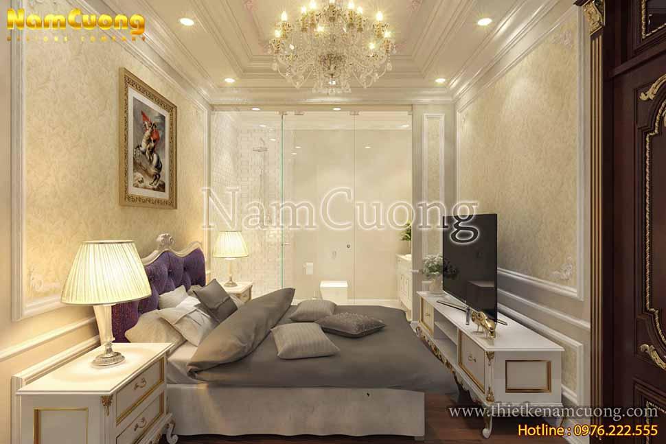 Căn phòng nhỏ gọn nhưng đầy đủ các đồ nội thất cần thiết