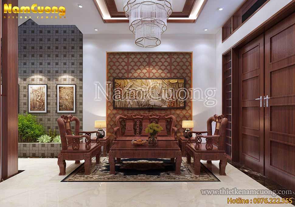 không gian phòng tiếp khách