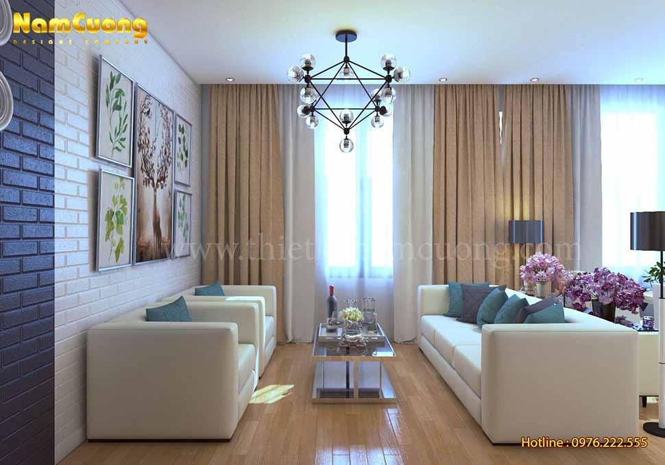 Nội thất nội thất nhà ống hiện đại tại Hà Nội