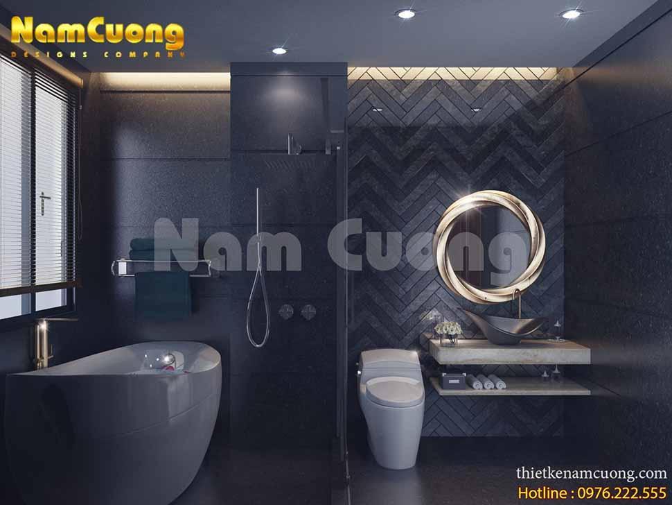 thiết kế WC nhà phố