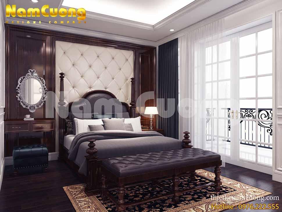 phòng ngủ nhà phố 5m