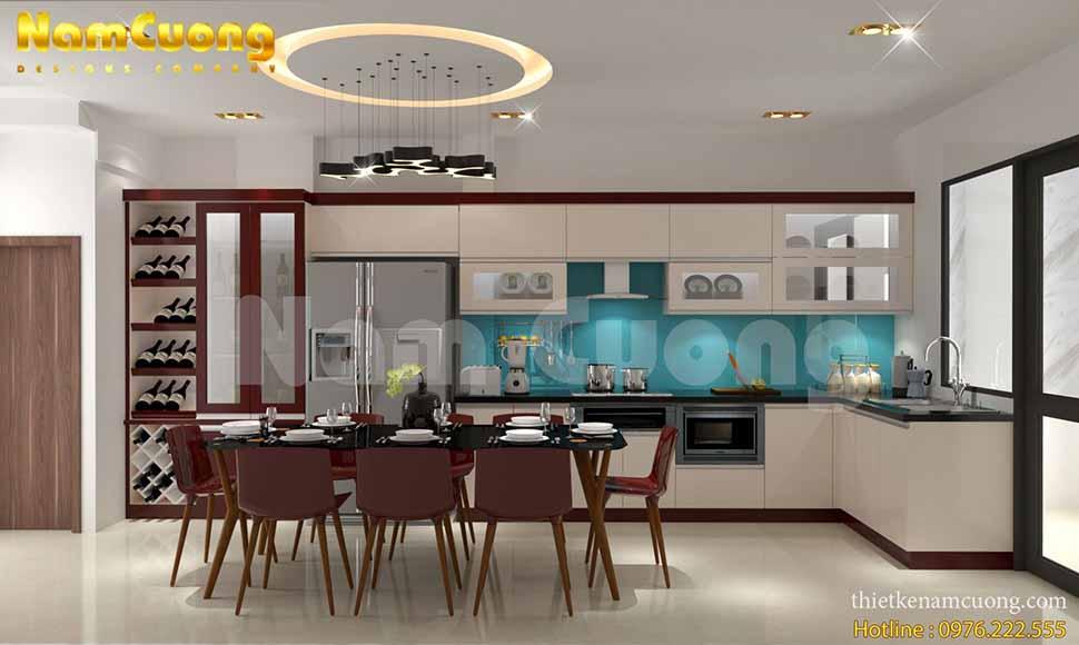 phòng bếp nội thất nhật bản hiện đại