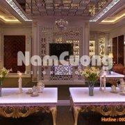 Phòng giải trí nội thất Pháp kiểu dáng, màu sắc cùng các hoa văn trang trí