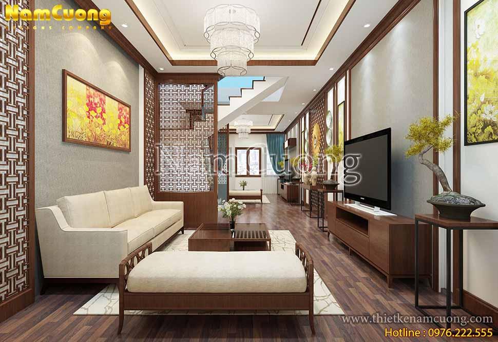 Hai tông màu chủ đạo là trắng và gỗ đem lại vẻ đẹp trang nhã, thanh tịnh