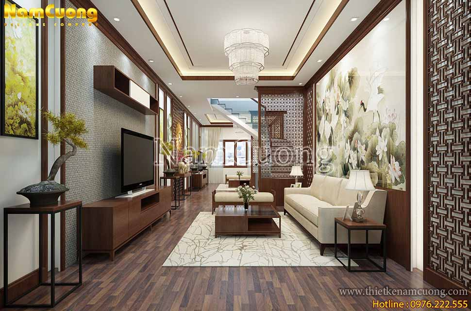 Kiểu dánh nội thất thiết kế mảnh nhưng chắc chắn giúp làm cho không gian căn phòng trở nên nhẹ nhàng hơn, có chiều sâu hơn