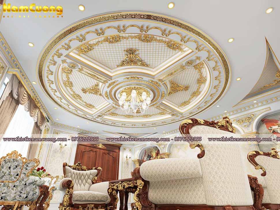trần phòng khách cổ điển
